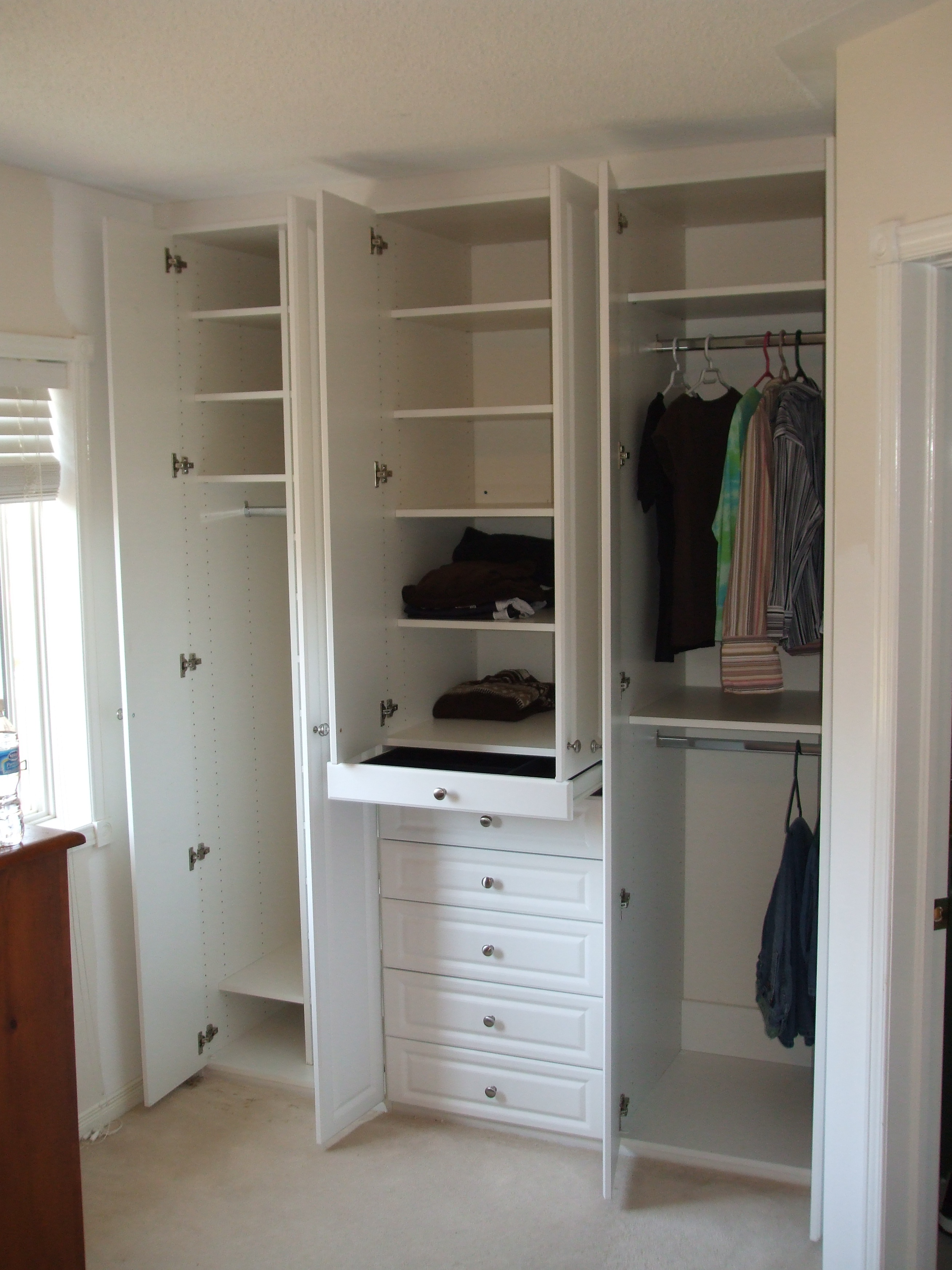 built olsen replacement chocolate closet commercial modern mirror reach in precision pear closets and glass